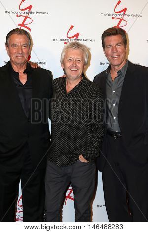 LOS ANGELES - SEP 8:  Eric Braeden, Mal Young, Peter Bergman at the Young and The Resltless 11,000 Show Celebration at the CBS Television City on September 8, 2016 in Los Angeles, CA