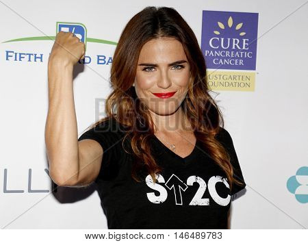 Karla Souza at the 5th Biennial Stand Up To Cancer held at the Walt Disney Concert Hall in Los Angeles, USA on September 9, 2016.
