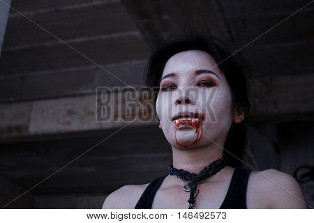 Vampire lovely ladies. Halloween. Ghost. devil. dickens. deuce