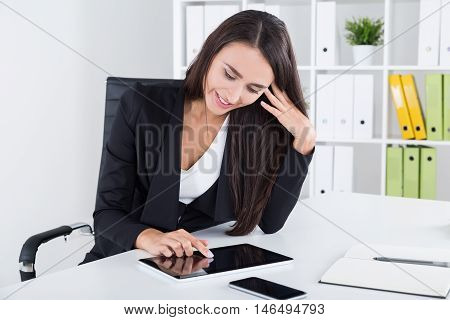 Business Lady Surfing Net
