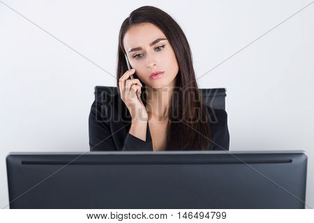 Businesswoman Receiving Bad News