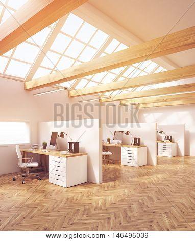 Design Studio Office In Attic