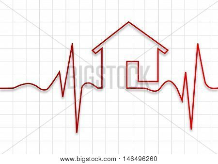 House check up on graphic , vector illustration