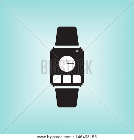 Smart watch icon, smart watch vector, smart watch isolated.