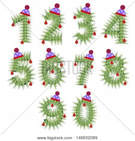 Vector Set Of Holiday Font