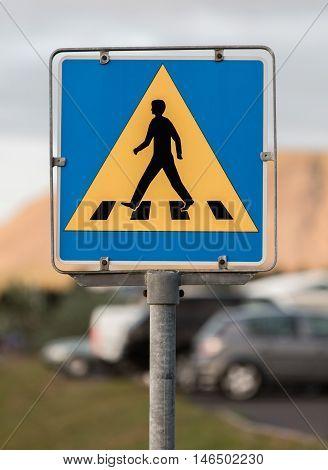 Vintage Pedestrian Transit Traffic Sign