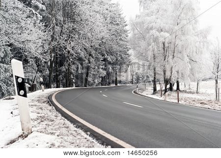 Road Through The Winter Landscape