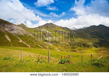 Summer landscape from Obertauern ski resort Salzburg LandAustria