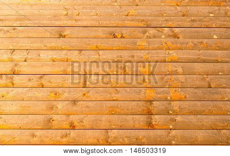 Close up of yellow blockhouse wall background