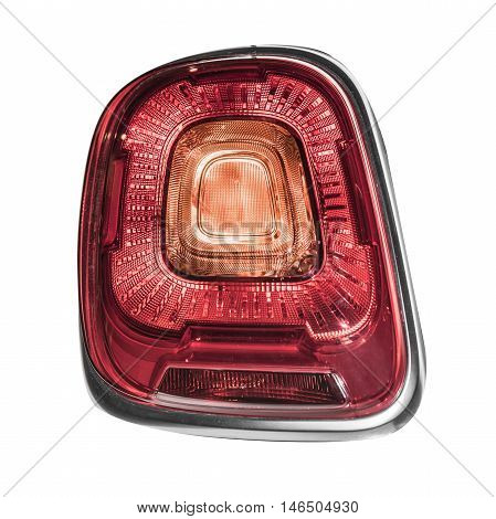 Rear car lights isolated on a white background.