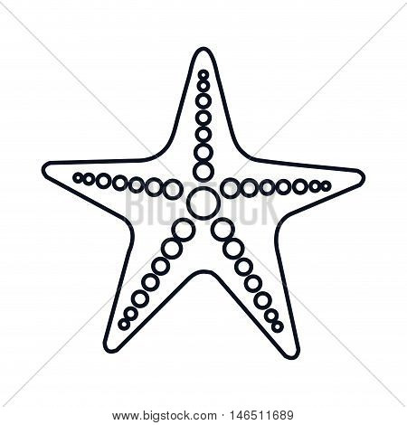 sea star starship marine animal. oceand and sea symbol. vector illustration