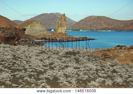 Pinnacle Rock and Sullivan Bay , Galapagos