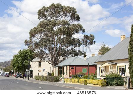 The main street of historic Richmond town (Tasmania).