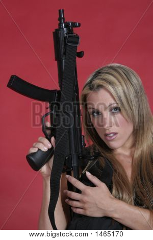 Woman With Rifle