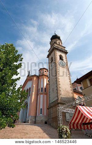 Church of the Most Holy Redeemer (del Santissimo Redentore) of Levico Terme (1872). Trentino Alto Adige Italy Europe