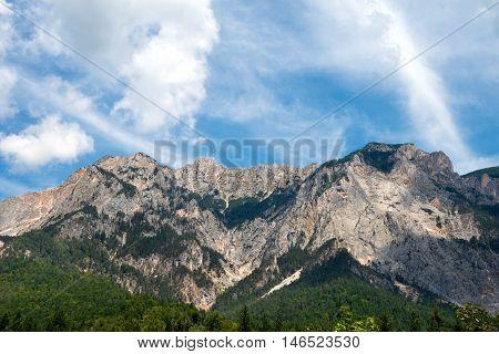 Peak of Dobratsch in Austrian Alps - Carinthia Austria