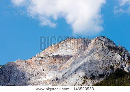 Detail of Peak of Dobratsch in Austrian Alps - Carinthia Austria