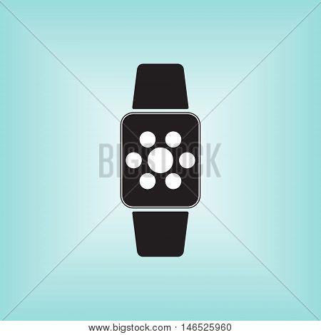 Smart watch icon, smart watch vector logo, smart watch isolated.