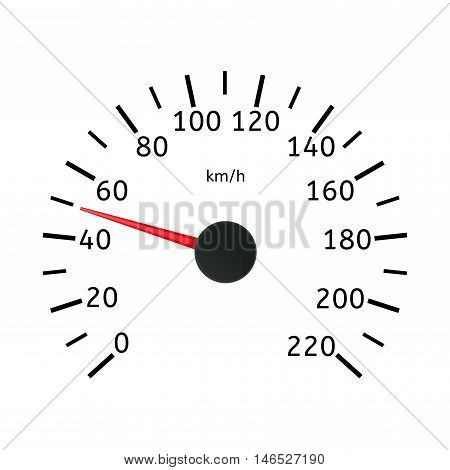 Speedometer scale with numbers. Vector illustration isolated on white background