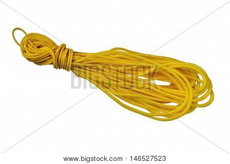 rope hank yellow insulate on white background