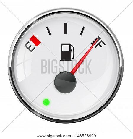Fuel gauge. Full tank. Vector illustration on white background