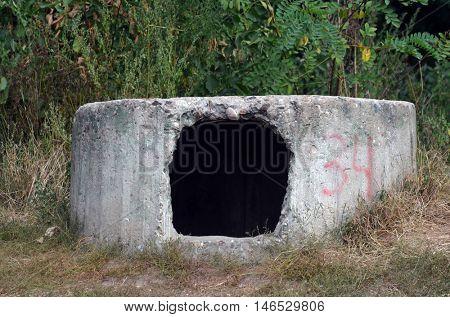 Abandoned bunker of WWII.Kiev region,Ukraine