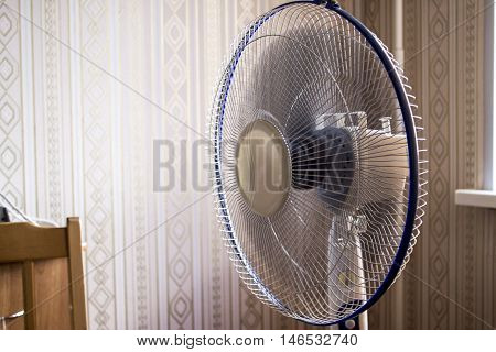 electric fan in the room. Operated ventilator