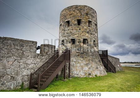 Rousse Tower No 11. One of 15 Loophole Towers built around the coast of Guernsey in 1778-1779
