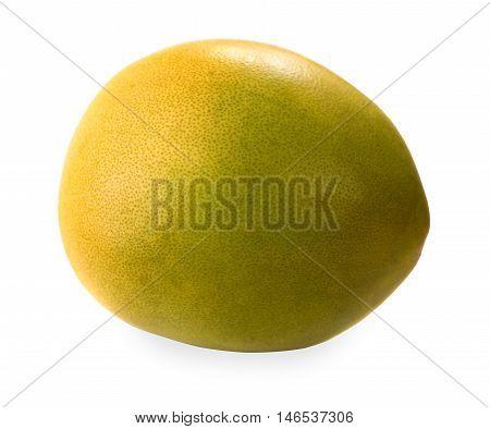 Pomelo isolated on white background. Citrus maxima or Citrus grandis
