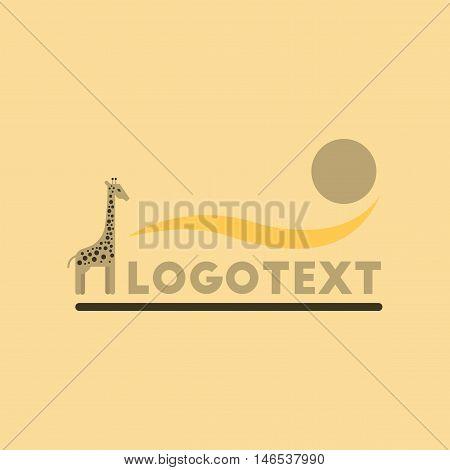 flat icon on stylish background giraffe logo. Vector.