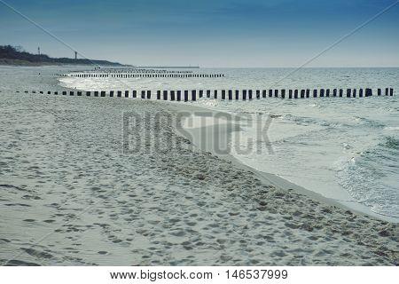 Breakwaters In The Baltic Sea