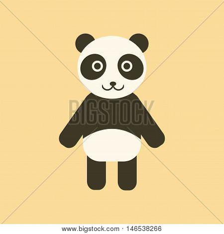 flat icon on stylish background Panda bear. Vector.