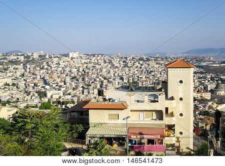 A view of the city of Nazareth.