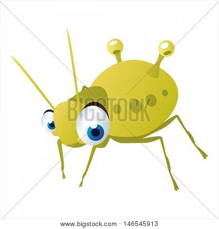 vector cute cool colorful cartoon animal drawing. insects collection. aphid