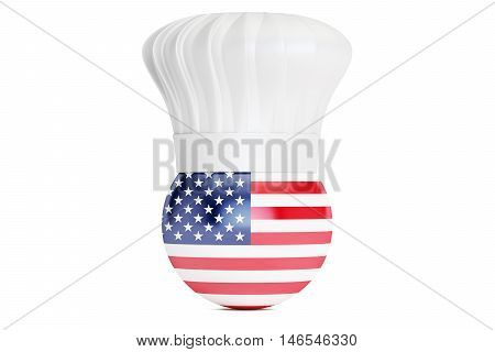 American cuisine concept 3D rendering isolated on white background