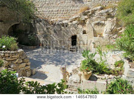 An old garden tomb in Jerusalem, Israel.