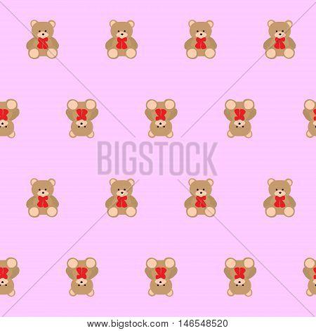 Teddy bear kids seamless pattern vector illustration