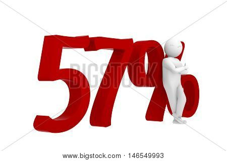 3D Human Leans Against A Red 57%