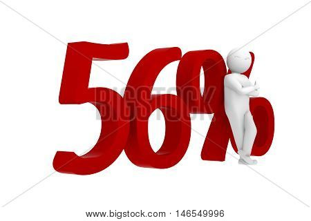3D Human Leans Against A Red 56%