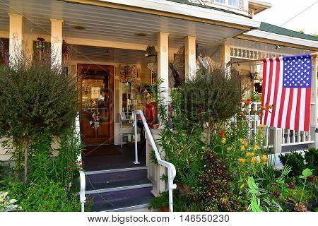 San Luis Obispo USA - july 14 2016 : the apple farm hotel
