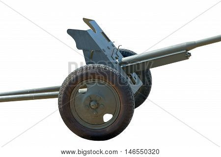 the Old cannon isolated on white background
