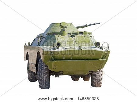 the old Russian BRDM on white background