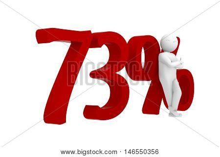 3D Human Leans Against A Red 73%