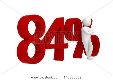 3D Human Leans Against A Red 84%