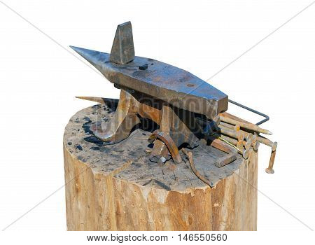 the classic anvil isolated on white background