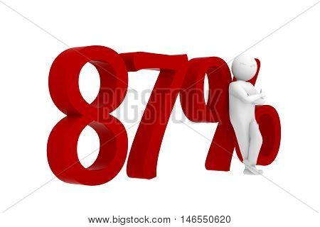 3D Human Leans Against A Red 87%