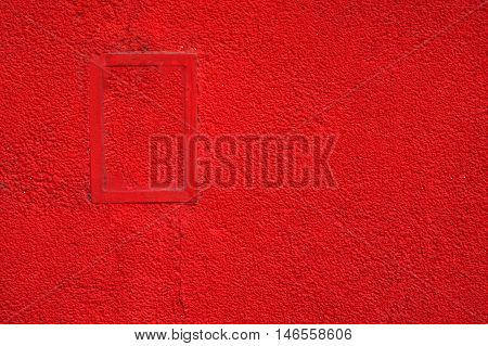 Red Paint Rough Wall . Abstract Background Texture