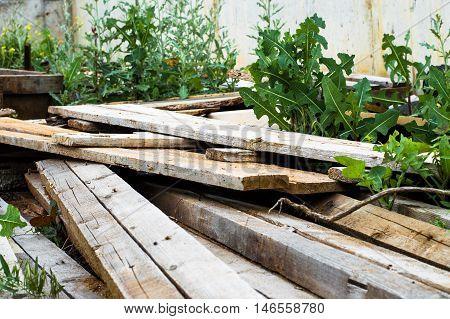 A Pile Of Scrap Wood