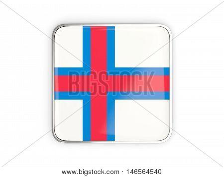 Flag Of Faroe Islands, Square Icon