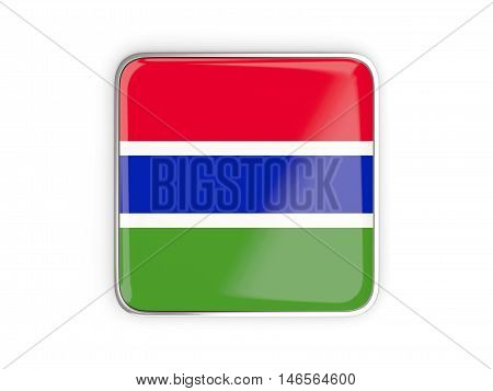 Flag Of Gambia, Square Icon
